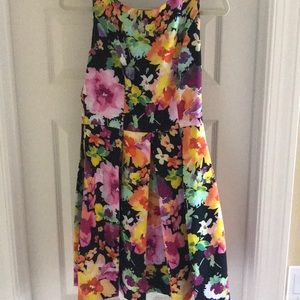 Floral pleated Knee Length Dress